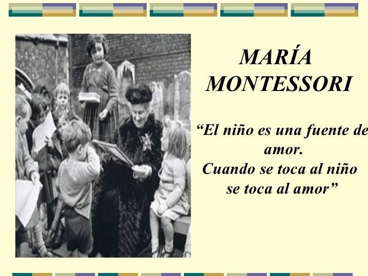 Maria montessori teoria