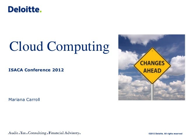 cloud computing - isaca conference 2012