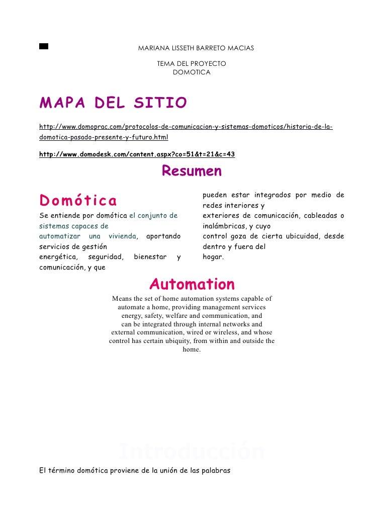 MARIANA LISSETH BARRETO MACIAS                                    TEMA DEL PROYECTO                                       ...