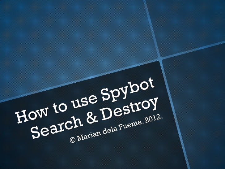 Step 1: Open www.safer-networking.org in your browser.© Marian dela Fuente. 2012. How to use Spybot Search & Destroy.