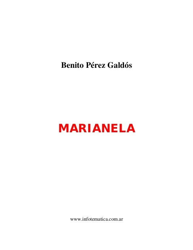 Benito Pérez GaldósMARIANELA  www.infotematica.com.ar
