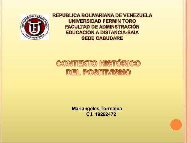 Mariangeles Torrealba      C.I. 19262472
