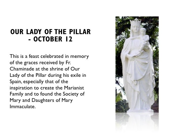 Image result for our lady of the pillar chaminade