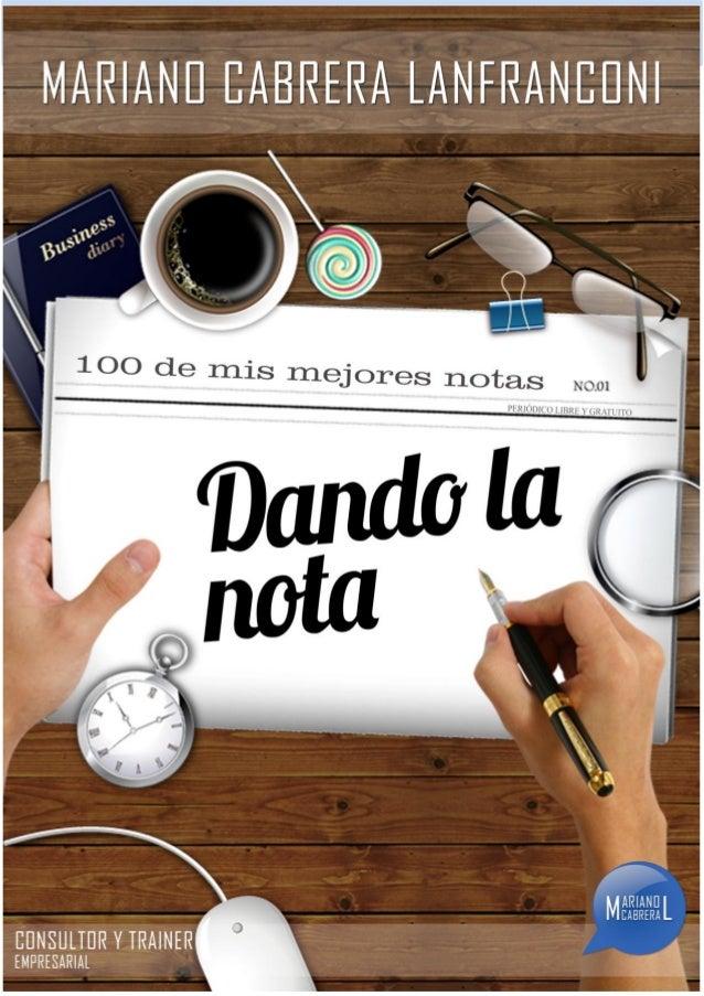 © Dando la nota – Lic. Mariano Cabrera Lanfranconi i