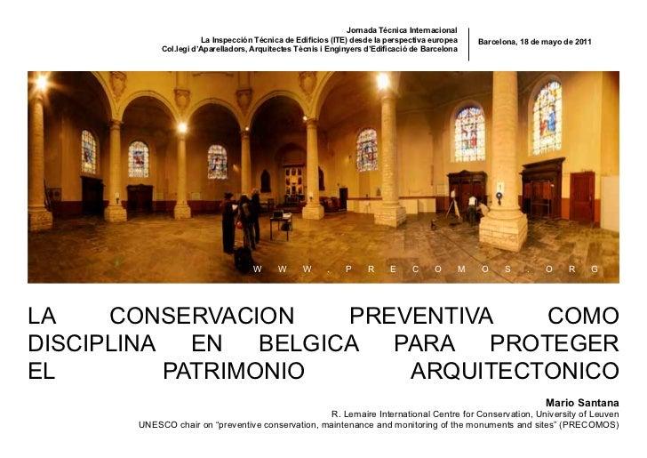Jornada Técnica Internacional                       La Inspección Técnica de Edificios (ITE) desde la perspectiva europea ...