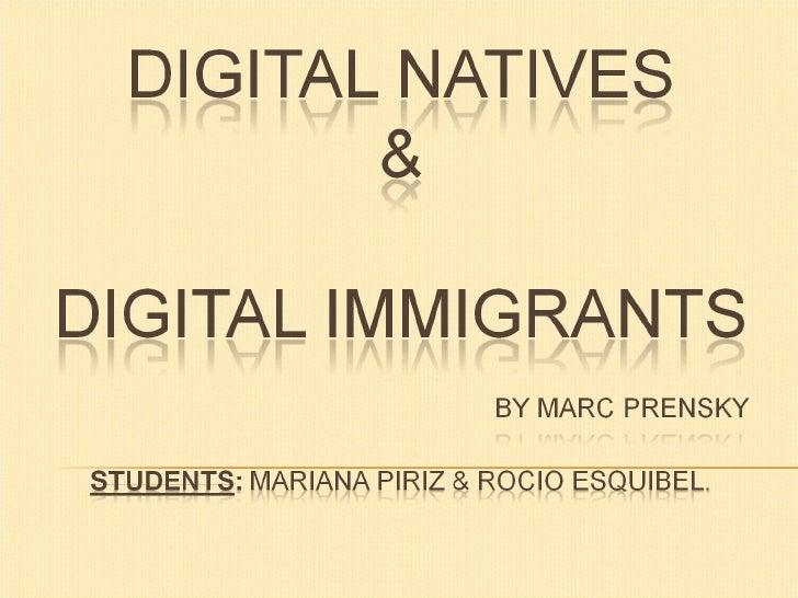 Marian's digital natives&digital immigrants