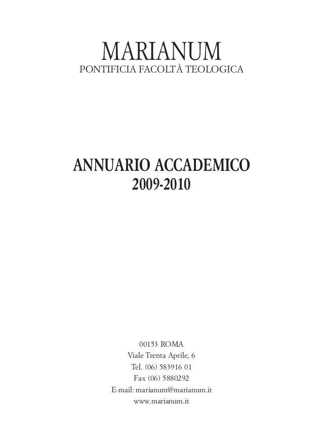 marianum annuario
