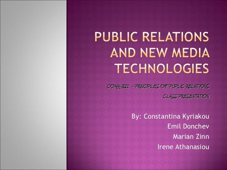 COMM321 - PR & New Media Technologies