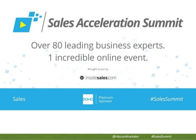 APTTUS 5 Secrets to Sales Operations Success • @inboundmarketer • #SalesSummit