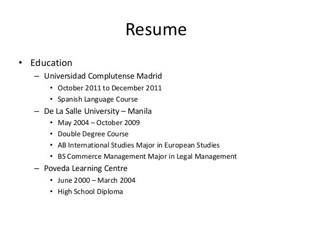double major on resume