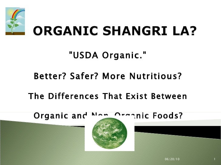 """USDA Organic.""  Better? Safer? More Nutritious?  The Differences That Exist Between  Organic and Non-Organic Fo..."