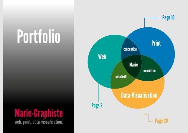 Portfolio Print Data-Visualisation exécution Web Marie conception créativité Page 2 Page 20 Page 10