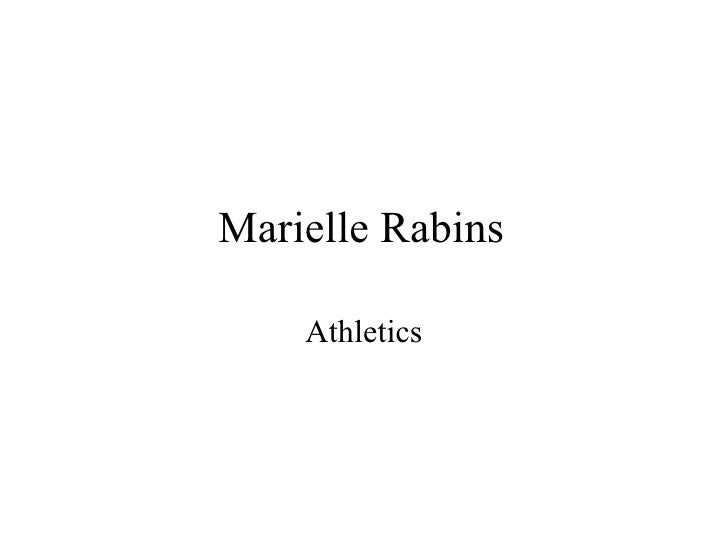Marielle rabins athletics