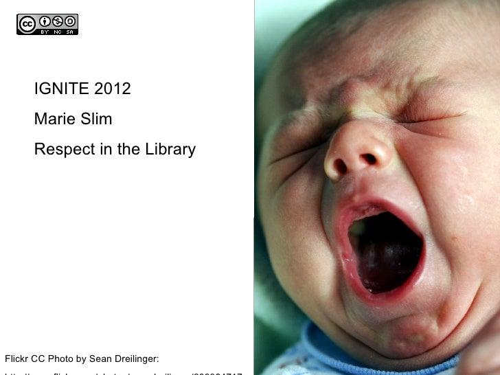 Marie Slim's CSLA 2012 Ignite Presentation