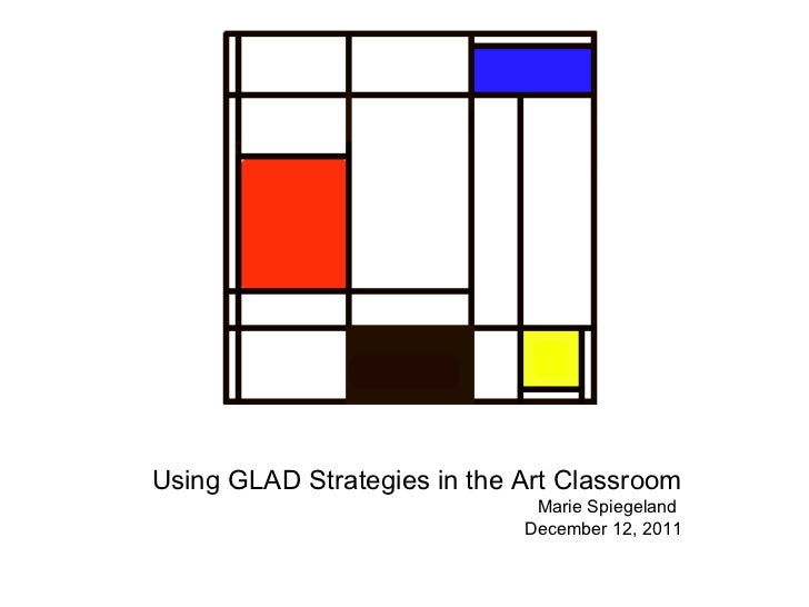 Using GLAD Strategies in the Art Classroom Marie Spiegeland  December 12, 2011
