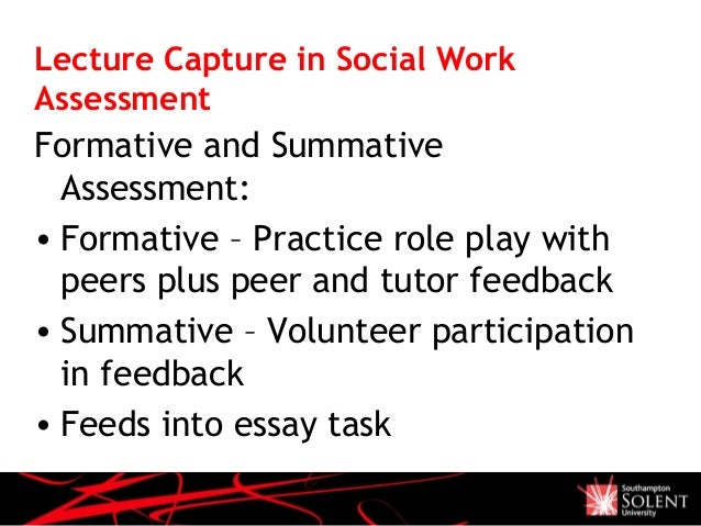 Feedback social work essay?