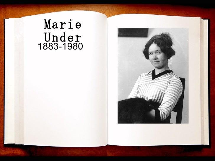 Marie Under 1883-1980