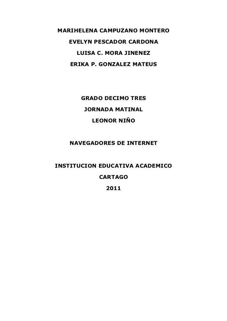 MARIHELENA CAMPUZANO MONTERO<br />EVELYN PESCADOR CARDONA<br />LUISA C. MORA JINENEZ<br />ERIKA P. GONZALEZ MATEUS<br />GR...
