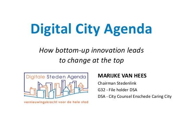 Presentatie Marijke van Hees tijdens Smart City 2013