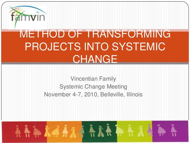 Vincentian Family<br />Systemic Change Meeting<br />November 4-7, 2010, Belleville, Illinois<br />METHOD OF TRANSFORMING P...