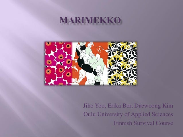 Jiho Yoo, Erika Bor, Daewoong KimOulu University of Applied Sciences            Finnish Survival Course