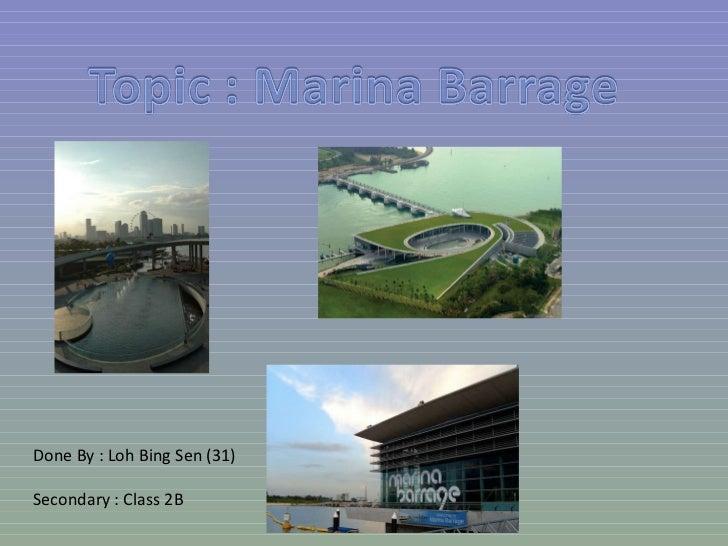 Marina barrage by Loh Bing Sen