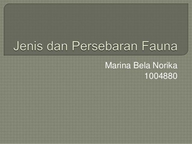 Marina Bela Norika         1004880