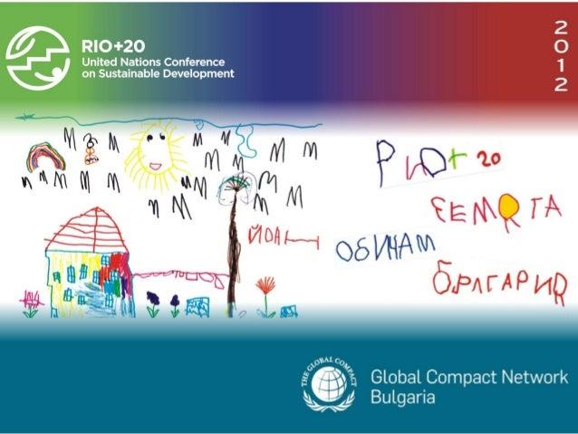 РИО+20 – Продължение...      Green HR forum      София, 10.2012