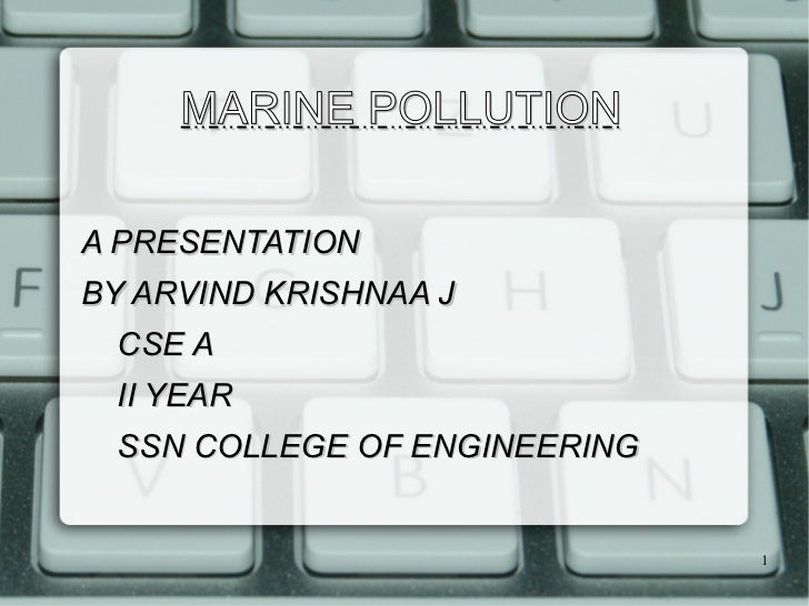 Marine Pollution