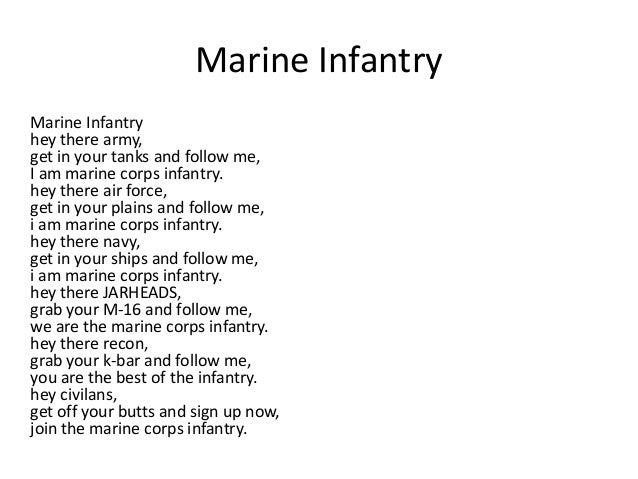 Marine cadence songs lyrics
