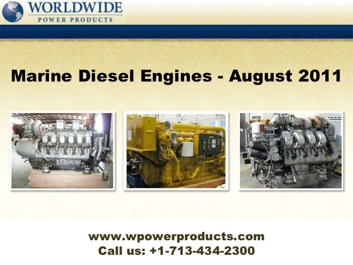 Marine diesel engines   august 2011