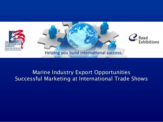 Marine Industry Export Opportunities Successful Marketing at International Trade Shows