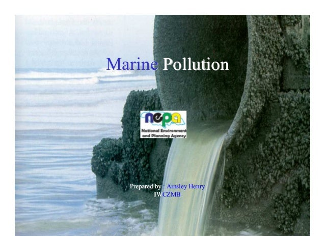 Marine Pollution  Prepared by : Ainsley Henry IWCZMB