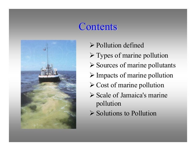 thesis sample for marine pollution