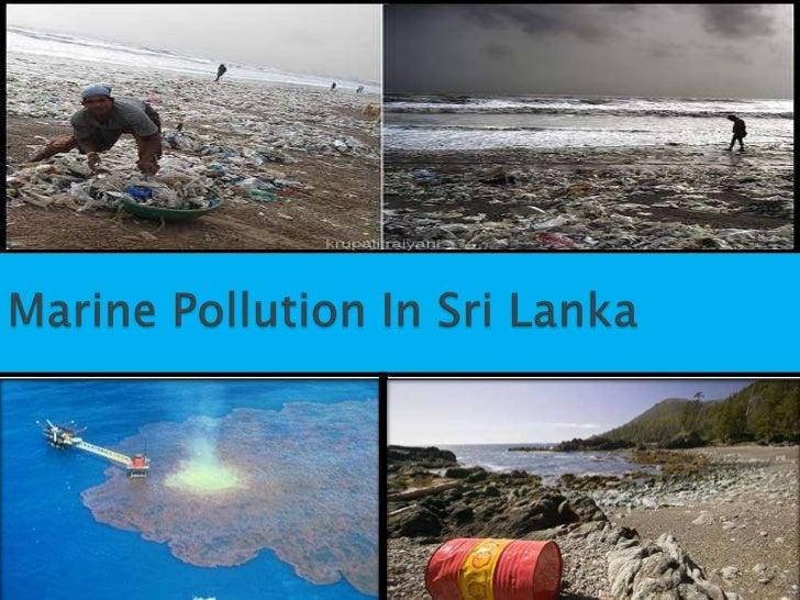 Marine pollution in sri lanka