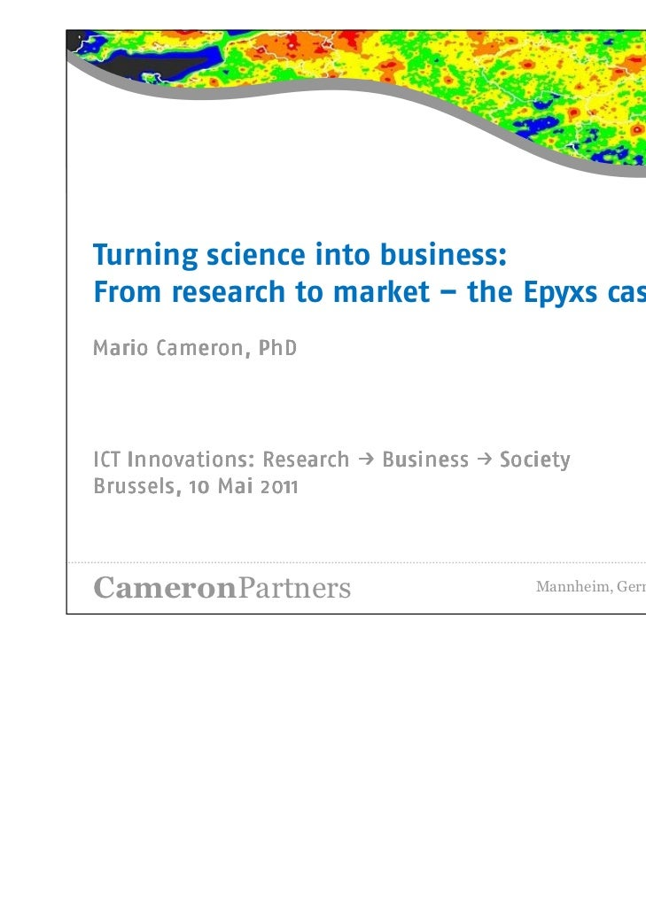Mario Cameron: Turning Science into Business: From Research to Market – the Epyxs Case