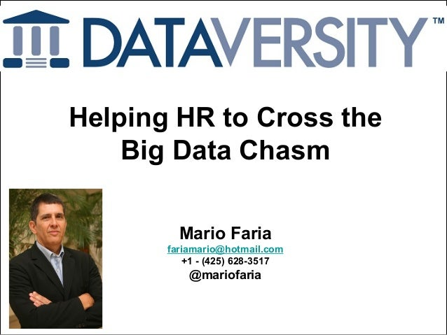 Helping HR to Cross the Big Data Chasm