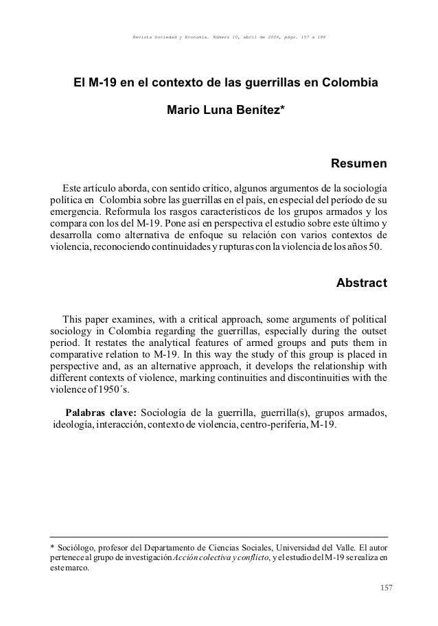 Revista Sociedad y Economía. Número 10, abril de 2006, págs. 157 a 188