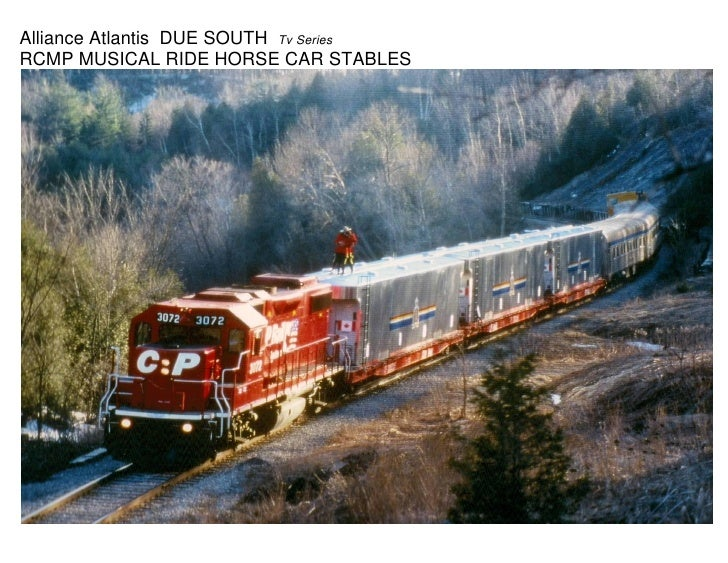 Alliance Atlantis DUE SOUTH Tv SeriesRCMP MUSICAL RIDE HORSE CAR STABLES