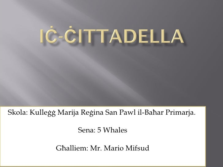 Ic-Cittadella