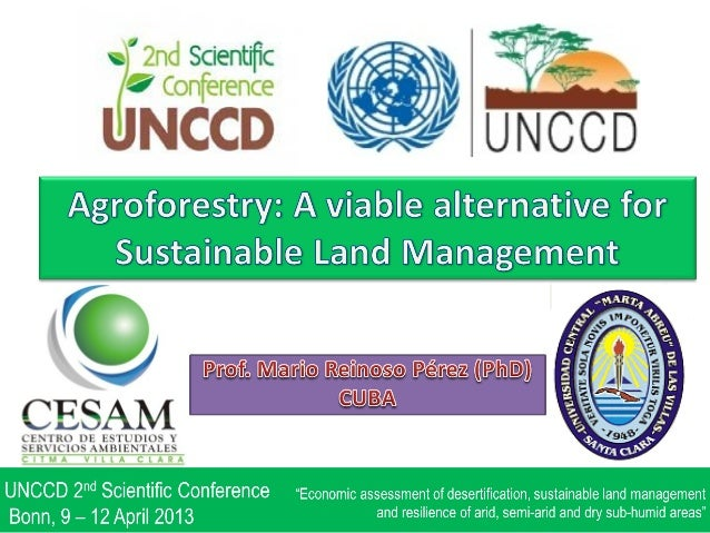 "Mario REINOSO PÉREZ ""Agroforestry: A viable alternative for sustainable land management"""