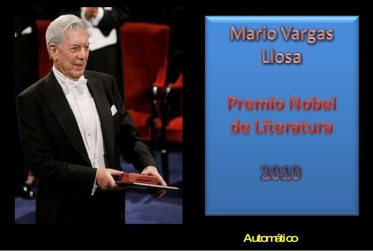 Mario vargas llosa, nobel de literatura