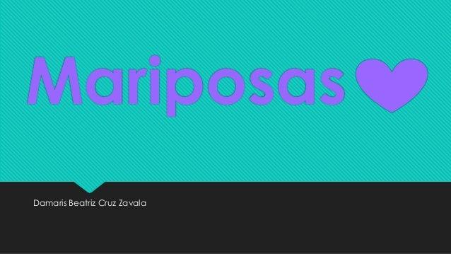 Mariposas Damaris Beatriz Cruz Zavala