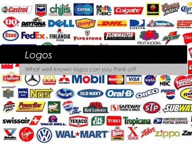 LogosWhat well-known logos can you think of?