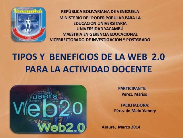 REPÚBLICA BOLIVARIANA DE VENEZUELA MINISTERIO DEL PODER POPULAR PARA LA EDUCACIÓN UNIVERSITARIA UNIVERSIDAD YACAMBÚ MAESTR...