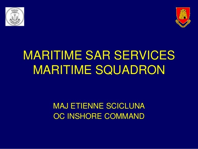 ARMED FORCES OF MALTA: Maritime Search-and-Rescue services