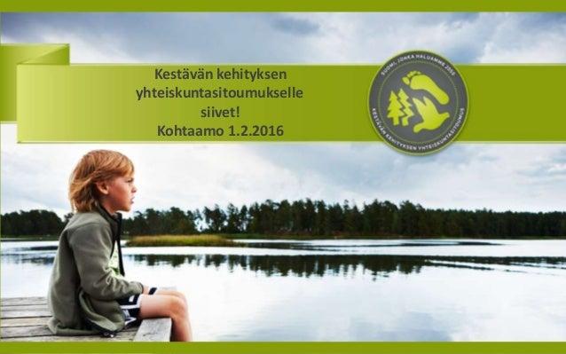 kestävän kehityksen sitoumus Paimio