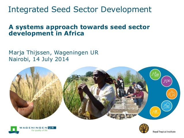 A systems approach towards seed sector development in Africa