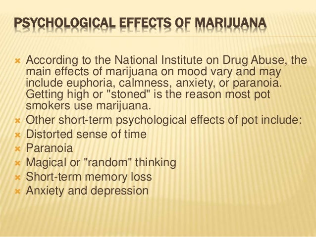 an overview of the long term and short term effects of taking marijuana The short-term effects of marijuana include problems with memory and learning, distorted perception (sights, sounds, time, touch), trouble with.