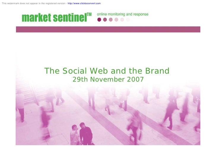 Mark Rogers Social Media Presentation 29 Nov 2007